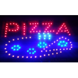 Cartel Led Pizza Abierto Bar Ferreteria Kiosco Panchos