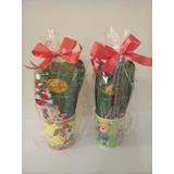 Tazas Rellenas De Chocolates Y Panetoncito Regalo Navidad