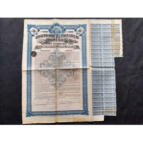 Apólice Gouvernement Etat Unis Brésil 1910