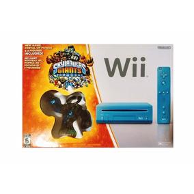 Nintendo Wii Edicion Especial Skylander Giants Blue