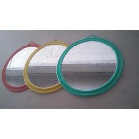 Espejos Redondos Nº4 Marco De Plástico 25cm Varios Colores