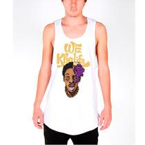 Camisa Regata Wiz Khalifa Taylor Gang Swag Rap Longline