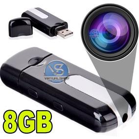 Pendrive Espião 8gb Camera Espiã Sensor De Movimento Filma