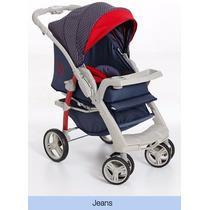 Carrinho Bebe Berço E Passeio Galzerano Optimus Azul Jeans