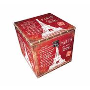 Baú De Madeira Torre Eiffel Caixa Vinho 24cm