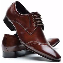 Sapato Social Masculino Couro Legitimo Solado Em Couro Dhl