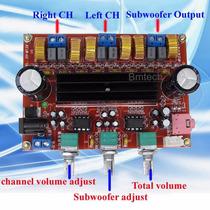 Placa Amplificador 2.1 200rms 2x50w +1x100rms Subwoofer Diy