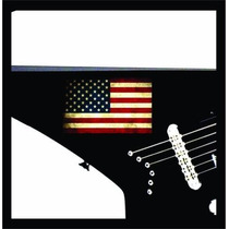 Sticker Usa Estados Unidos Flag Bandera / Guitarra O Bajo