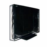 Capa Tv Lcd, Led, Plasma, Impermeável Com Viés Preto