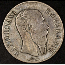 Moneda Mexico $1.00 Peso Max San Luis Potosi 1866