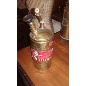 Pulverizador Bronce Marca Lilian Antiguo Con Etiqueta