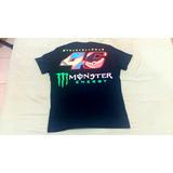 Camiseta Valentino Rossi Monster Preta G (nova)