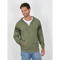 Sweater Canguro Con Medio Cierre Y Capucha Mauro Sergio!