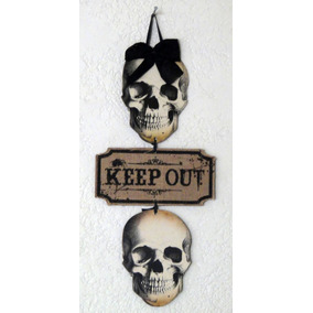 Letrero Halloween Decoración Muertos Calavera Cráneo Brujas