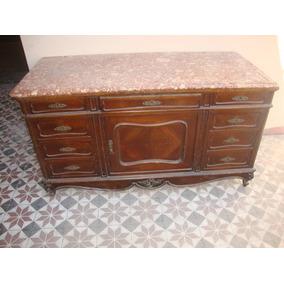 Antiguo aparador trinche estilo provenzal con m rmol sup for Muebles antiguos argentina