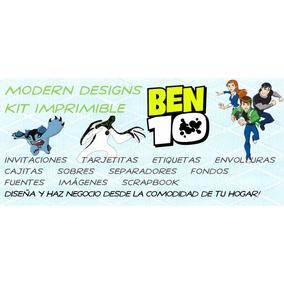 Kit Imprimible Ben 10 Adornos Invitaciones Recuerdos Y+