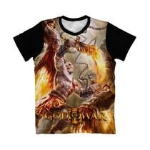 Camiseta God Of War - Camisa Kratos Espada