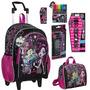 Mochila, Lancheira, Relógio, Material Escolar Monster High