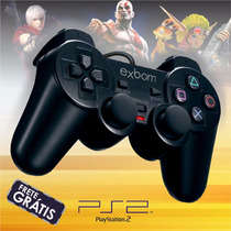Manete Joypad Game Ps2 Digital C/ Vibração Bivolt Dual Shock