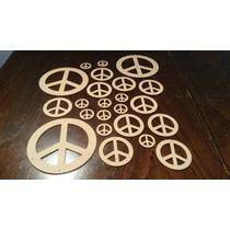 Figura Simbolo De La Paz Mdf-fibrofacil -