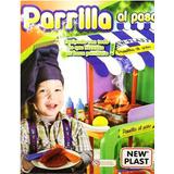Set Carrito Parrilla Al Paso Asador Cocina Juguete New Plast