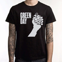 Camiseta Da Banda Green Day American Idiot
