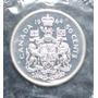 Canada 50 Centavos 1964 Plata Proof Elizabeth Ii