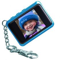 Chaveiro Porta Retrato Digital Com Tela Lcd De 1,5 Pol Azul