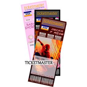 Invitaciones Infantiles Tipo Ticketmaster, Baby Shower