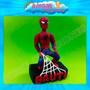 Hombre Araña Spiderman Adorno De Torta En Porcelana Fria
