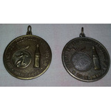 Coca-cola Refrescos Lote2 Medalhas Futebol Ouro Prata 4cm Di