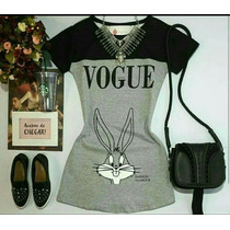 Vestido Vogue Dress Mickey Perna Longa Moda Jovem Bonito Top