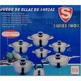 Ollas Swiss Inox 17 Y 14 Piezas