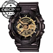 Relógio Masculino Anadigi G-shock Ga-110br-5adr Marron 20atm