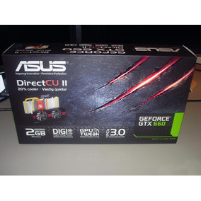 Tarjeta De Video Asus Geforce 660 Gtx, 2gb Ddr5