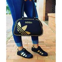 Zapatos Adidas Super Star Combo Con Bolso Cartera Deportivo