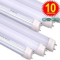 Kit 10 Lâmpada Led T8 Tubular 120cm 1,2m 18w Branco Puro Fri