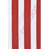 Tecido Gorgurinho Listrado Vermelho E Branco Circo 1m X 1,5m