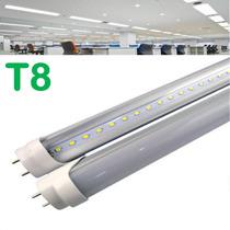 Tubo Led T8 120cm Casas Oficina Foco Opalino O Transparente