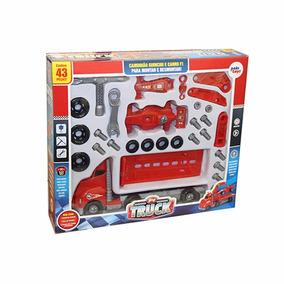 Brinquedo Caminhão Guincho C Carro De Formula 1 E Acessorios