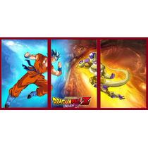 Tríptico Dragon Ball Z Gokú Freezer Cuadro Poster