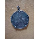 Moneda Un Sol Peruano De Plata Con Engarce 0800