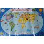 Banner Mapa Mundi Infantil Decorativo Quarto De Criança