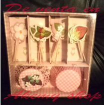 Rosita Fresita Cupcake Toppers And Wrappers Articulos