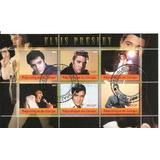 Elvis Presley 6 Estampillas Hojita Souvenir