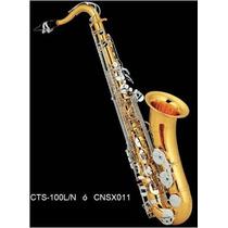 Saxofon Tenor Combinado Llaves Niqueladas Century Cnsx011
