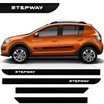 Friso Lateral Do Renault Sandero Stepway Novo 2015 Borrachão