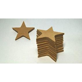 Pack 10 Estrellas En Madera Para Píntar 10x10cm