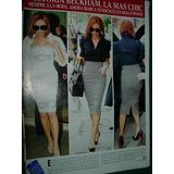 Victoria Beckham Las Mas Chic 1 Pg Clipping Revista Caras