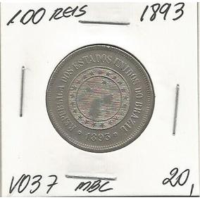 Moeda 100 Reis 1893 Niquel V037 Mbc